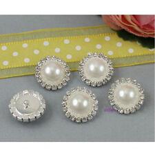 10pcs 15mm Round Rhinestone Pearl Cluster Wedding Rhinestone Button Hot Sale