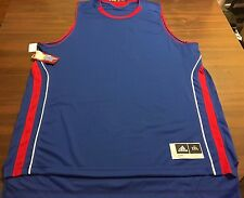 """NEW""  UNIVERSITY  KANSAS JAYHAWKS  NCAA  BASKETBALL JERSEY  MENS 2XL BY ADIDAS"