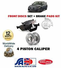 FOR MITSUBISHI LANCER EVO 5 6 7 8 1998--  FRONT BRAKE DISCS SET + DISC PADS KIT