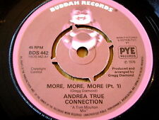 "ANDREA TRUE CONNECTION - MORE MORE MORE      7"" VINYL"