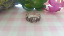 Beautiful  Marcasite Swirl Filigree Band  Ring 925 Sterling Silver *Size 6*B926