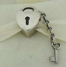 Authentic Pandora 790971 Key To My Heart Sterling Silver Bead Charm