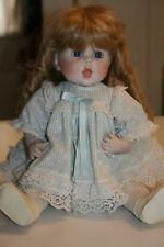 """HANDMADE 17"""" BALL JOINTED PORCELAIN DOLL WITH DRESS~SHOES~TIGHTS"""