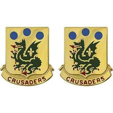 USA Army Unit Crest 72nd Armor Motto: Crusaders -   PAIR   NEW  (Army Issue)