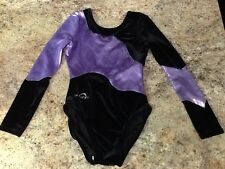 BEAUTIFUL OBERSEE gymnastics foil leotard Child Large Long Sleeve competition gk