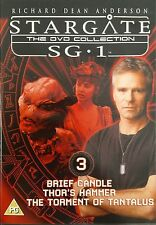 STARGATE - SG1 Part 3 - Brief Candle, Thor's Hammer, Torment (DVD) Free Post