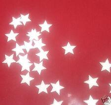 decorazioni da applicare 30 stelle 1cmFlex termoadesivo GLITTER BIANCO HOTFIX
