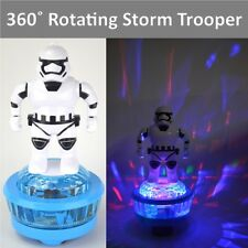 "10"" Star Wars Storm Trooper giratorio de 360 ° Figura de Acción luces intermitentes Music UK"