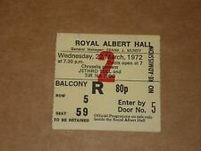 Jethro Tull 1972 Royal Albert Hall Concert Ticket