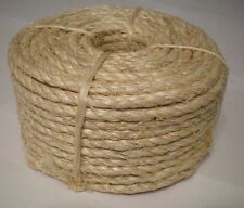 "1/4"" X 100' Natural Sisal Rope CAT SCRATCHING POST Claw Control Toy Crafts Pet"
