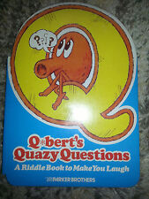 Vintage 1983 Q-BERTS QUAZY QUESTIONS Parker Brothers RIDDLE JOKE BOOK Video Game