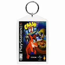 Playstation one 1 PS1 CRASH BANDICOOT 2 Video Game Classic Box Cover Keychain