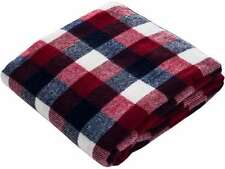 Lavish Home Throw Blanket - Cashmere-like - Red/Blue/White