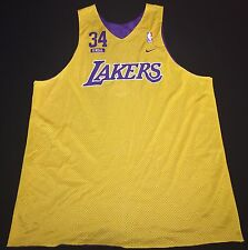 VINTAGE NIKE LOS ANGELES LAKERS SHAQUILLE O'NEAL MENS REVERSIBLE JERSEY LARGE