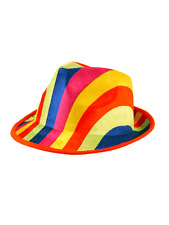 Adult Unisex Rainbow Trilby Hat Gangster Gay Pride Party Fancy Dress Accessory