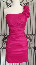 G671/2  THEA DORA 9337 SZ 4 OR 10 FUCHSIA  PROM HOMECOMING PAGEANT GOWN DRESS