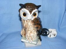 Goebel Owl Perfume Lamp Hummel West Germany RARE Light
