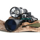 Hunting Tactical Illuminated 3-9X40 rifle SCOPE + 600 Lumens torch+red dot laser