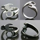 Men's Fashion Stainless Steel Wrench Spanner Finger Ring Jewelry Silver/Black