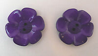 2 X EXTRA LARGE FLOWER BUTTONS PURPLE SIZE 60 -  38mm (1 1/2 INCH)