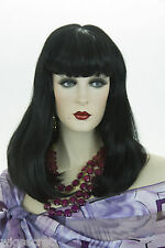 Black Brunette Long Medium Straight Skin Top Wigs