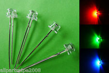50pcs 5mm STRAW HAT RGB Slow Flash Wide Angle LED with 12V Free Resistors amy