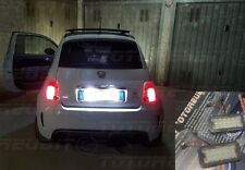 Coppia Plafoniere Led Targa Specifica Fiat 500 Abarth 500c NO ERRORE NOVITA'