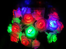 20-LED Rose Flower Fairy Light Wedding Party Xmas String Battery Bedroom Decors