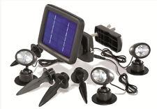 faretto ad energia solare a led faro 3 faretti da giardino luce lampada sole