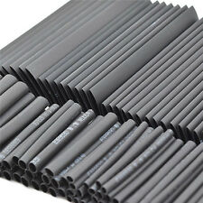 127pc Heat Shrink Tube Assortment Wire Wrap Electrical Insulation Sleeving Black