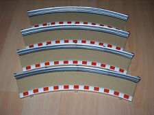 Scalextric Classic/Sport/Digital C8228 Curve Outer Borders x4 Good Condition