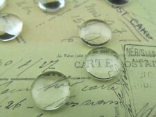 """50 Round Glass Cabochons - 12mm - Clear Magnifying Dome Cabs - Craft 1/2"""" Inch"""