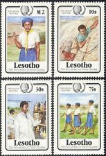 Lesotho 1985 Girl Guides 75th/Youth Year/Guiding/Rock Climbing 4v set (n15307)