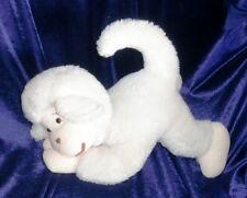 VINTAGE GUND STUFFED PLUSH ANIMAL TOY OFF WHITE CREAM IVORY ECRU MONKEY CHIMP
