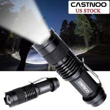 2X Castnoo 6000LM CREE Q5 LED Tactical Flashlight Zoom 14500 Battery Torch WT