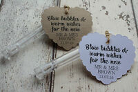 Personalised Wedding Favour Tags for wedding bubbles..Blow bubbles & warm wishes