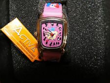 Activa Girls Pink Face and Band Swiss Watch water resistant Register #495494 (SV