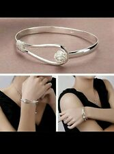 UK 925 sterling silver bangle bracelet openable friend lover birthday gift xmas