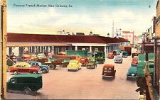 Lot of 2 Unused Postcards New Orleans LA French Market Banana Port Old Cars