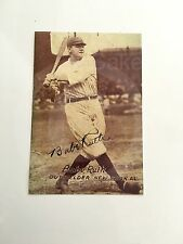1920s Exhibits Post Card Signed Autographed Babe Ruth Copy Photograph Yankees