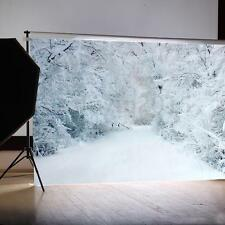 5x3FT Winter Heavy White Snow Backdrop Studio Vinyl Photography Background Props