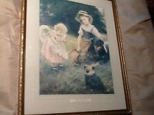 Framed and signed print by George Hillyard Swinstead 'Their favourite pets'