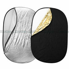 90 X120cm 5-in-1 Oval Studio Light Multi Collapsible Photo Reflector Board Disc