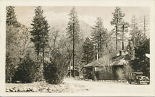 Idyllwild CA * After the Storm RPPC 1940 * Car & Store  Riverside Co.