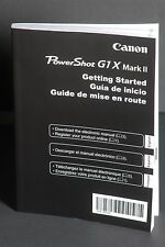Canon PowerShot G1X Mark II Camera Instruction Book / Manual / User Guide