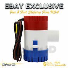 12V Marine Electric Bilge Pump 1100Gph For Boat Caravan RV Submersible