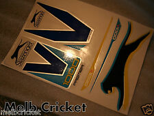 SLAZENGER V1000 PREMIER Cricket bat Stickers - 1 Full SET