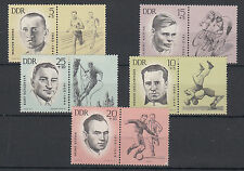 DDR GERMANIA EST 1963 FRANCOBOLLI SPORT STAMPS NUMERO YVERT 663-7 NUOVI MNH**