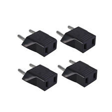 4Pcs American US to European EU Travel Adapter Power Wall Plug Outlet Converter