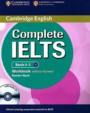 Cambridge COMPLETE IELTS Bands 4-5 WORKBOOK without Answers +Audio CD @New@